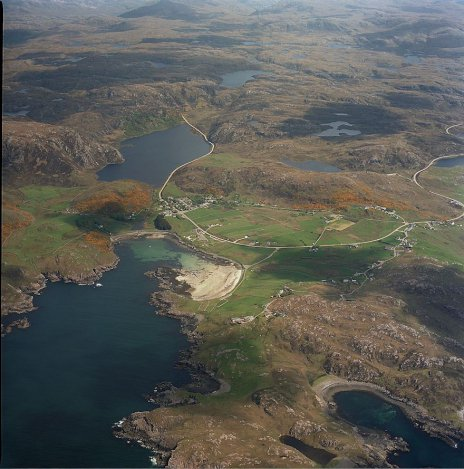 Aerial shot of Scourie