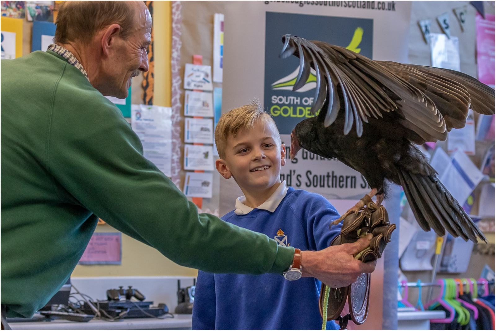 Student with Turkey Vulture