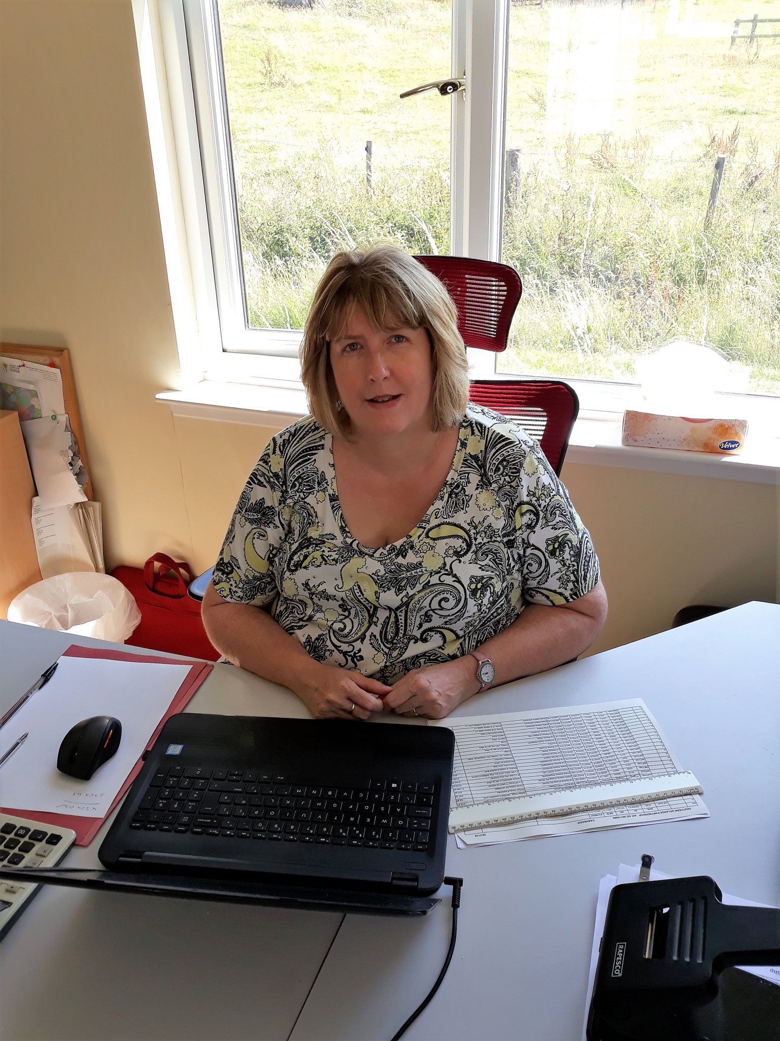 Sheila Adams, Bookkeeper and Administration Officer