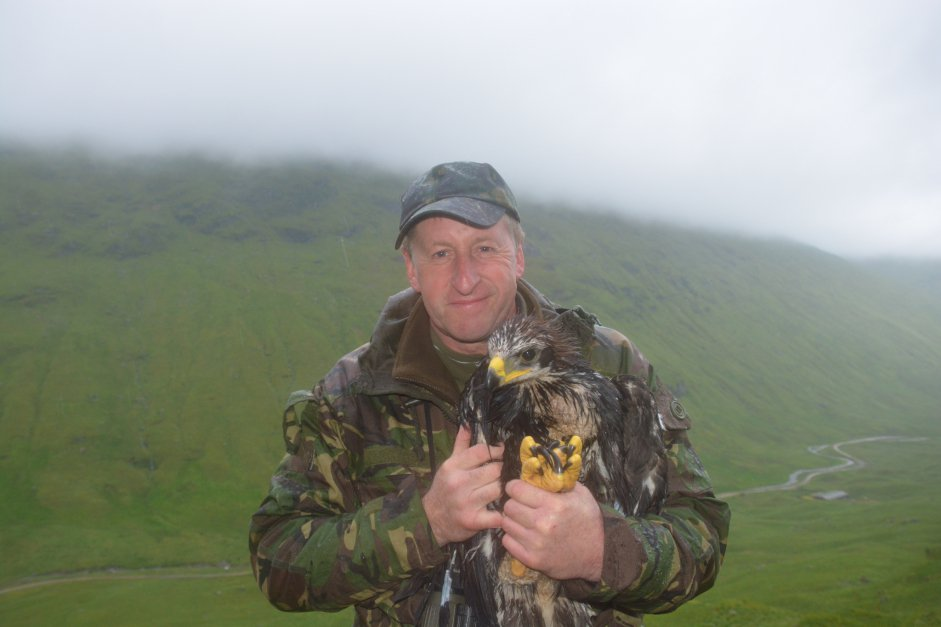 Mike Marchant with young Golden Eagle